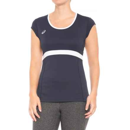 ASICS Spin Slice T-Shirt - UPF 50, Short Sleeve (For Women) in Navy/White - Closeouts