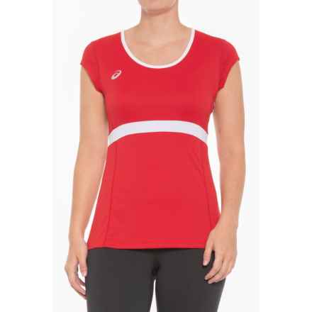 ASICS Spin Slice T-Shirt - UPF 50, Short Sleeve (For Women) in Red/White - Closeouts