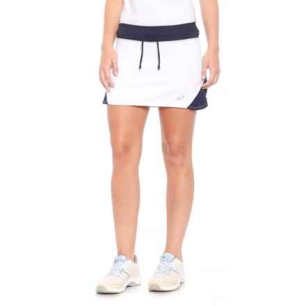 ASICS Spin Slice Tennis Skort - UPF 50+ (For Women) in White/Navy - Closeouts