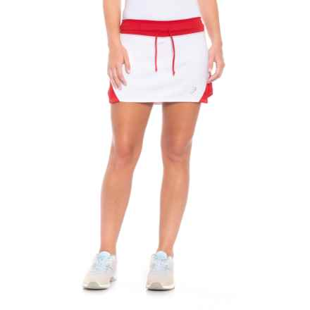 ASICS Spin Slice Tennis Skort - UPF 50+ (For Women) in White/Red - Closeouts