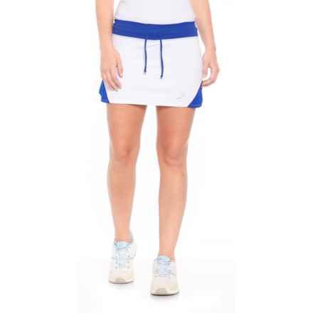ASICS Spin Slice Tennis Skort - UPF 50+ (For Women) in White/Royal - Closeouts