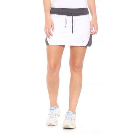 ASICS Spin Slice Tennis Skort - UPF 50+ (For Women) in White/Steel Grey - Closeouts