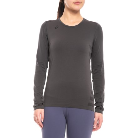 2ed9e769b2ec ASICS Tactics Court Volleyball Shirt - Long Sleeve (For Women) in Steel  Grey -