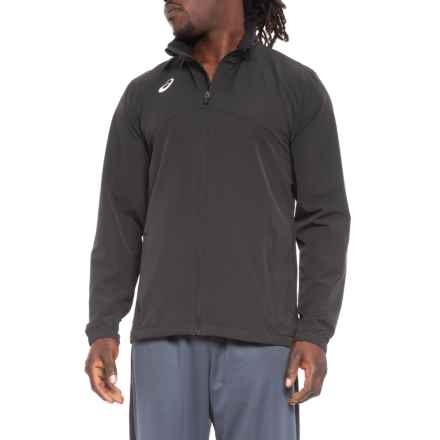 ASICS Team Battle Warm-Up Jacket (For Men) in Black - Closeouts