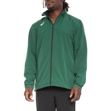 1e1bf830be7c ASICS Team Battle Warm-Up Jacket (For Men) in Forest - Closeouts