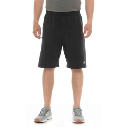 ASICS Team Cargo Running Shorts (For Men) in Black - Closeouts