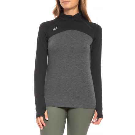 ASICS Team Classic Jacket - Zip Neck (For Women) in Black/Heather Grey - Closeouts