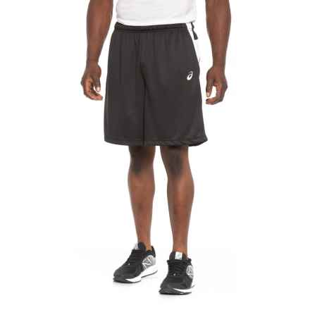 ASICS Team Court Tennis Shorts (For Men) in Black/White - Closeouts