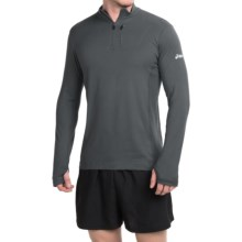 ASICS Team Pullover Shirt - Zip Neck, Long Sleeve (For Men) in Black - Closeouts