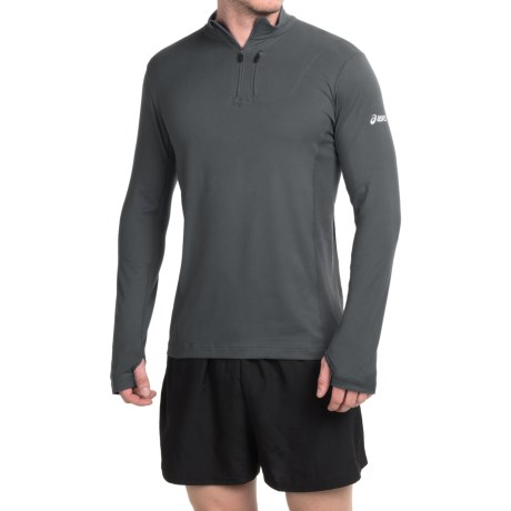 ASICS Team Pullover Shirt Zip Neck, Long Sleeve (For Men)