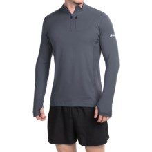 ASICS Team Pullover Shirt - Zip Neck, Long Sleeve (For Men) in Steel Grey - Closeouts