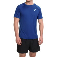 ASICS Tennis Club Crew Neck T-Shirt - Short Sleeve (For Men) in Air Force Blue - Closeouts