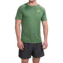 ASICS Tennis Club Crew Neck T-Shirt - Short Sleeve (For Men) in Oak Green - Closeouts