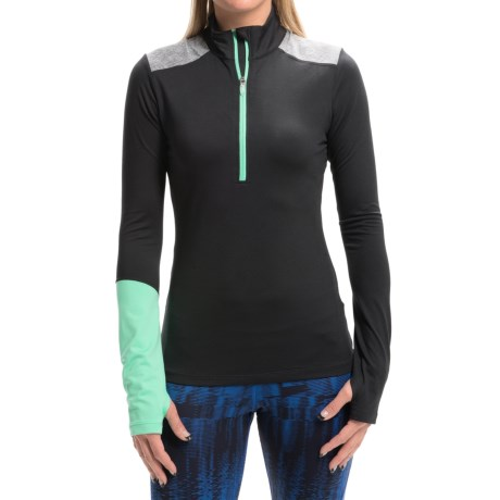 ASICS Thermopolis Pullover Shirt Zip Neck, Long Sleeve (For Women)