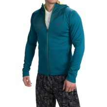 ASICS Training Jacket - Full Zip, Hooded (For Men) in Mosaic Blue - Closeouts