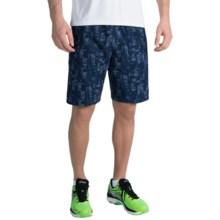 "ASICS Woven 9"" Shorts (For Men) in Indigo Blue Pixel - Closeouts"