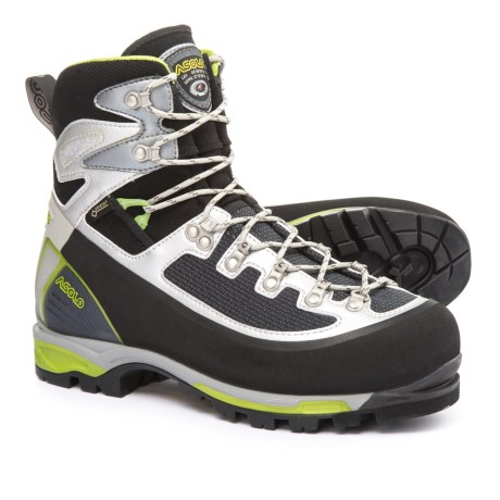Asolo 6B+ Gore-Tex® Mountaineering Boots - Waterproof, Insulated (For Men) in Black/Green
