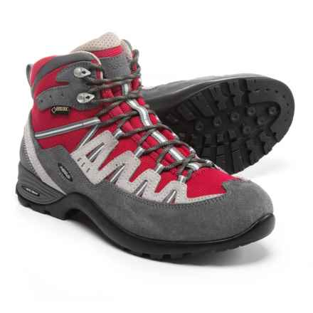 Asolo Ace GV Gore-Tex® Hiking Boots - Waterproof (For Women) in Grey/Carmino Red - Closeouts
