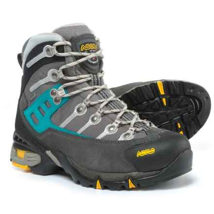 Asolo Atlantis Gore-Tex® Hiking Boots - Waterproof (For Women) in Graphite/Stone/Peacock - Closeouts