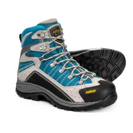 Asolo Drifter GV Gore-Tex® Hiking Boots - Waterproof (For Women) in Silver/Dark Aqua - Closeouts