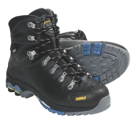 Asolo Ergo Gore-Tex® Hiking Boots - Waterproof, Leather (For Women) in Black/Avio
