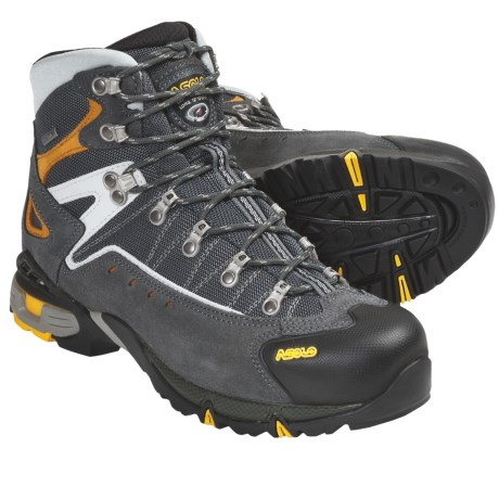 Asolo Flame Gore-Tex® Hiking Boots - Waterproof (For Men) in Graphite/Gunmetal
