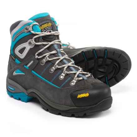 Asolo Futura Gore-Tex® Hiking Boots - Waterproof (For Women) in Graphite/Blue Peacock - Closeouts