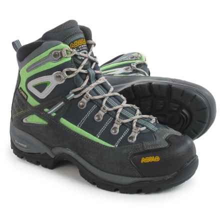 Asolo Futura Gore-Tex® Hiking Boots - Waterproof (For Women) in Grey/Giada Green - Closeouts