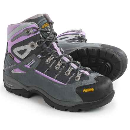 Asolo Futura Gore-Tex® Hiking Boots - Waterproof (For Women) in Grey/Orchid - Closeouts
