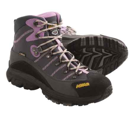 Asolo Horizon 1 Gore-Tex® Hiking Boots - Waterproof (For Women) in Graphite/Gunmetal/Orchid - Closeouts