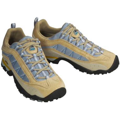 Asolo Lunar Trail Shoes (For Women) in Tan / Light Blue