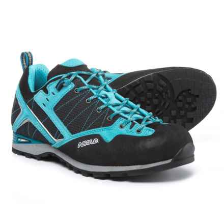 Asolo Magix Approach Shoes (For Women) in Black/Atoll Blue - Closeouts