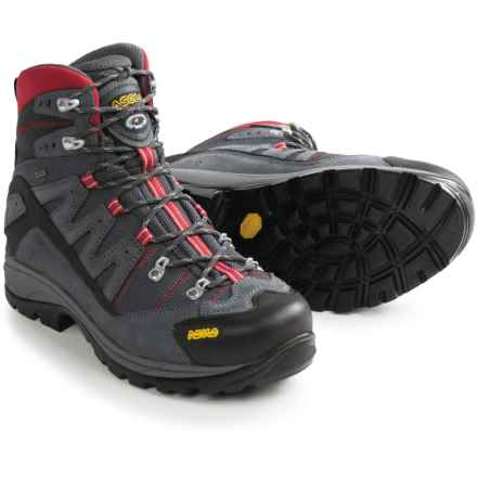 Asolo Neutron Gore-Tex® Hiking Boots - Waterproof (For Men) in Grey/Gunmetal/Red - Closeouts