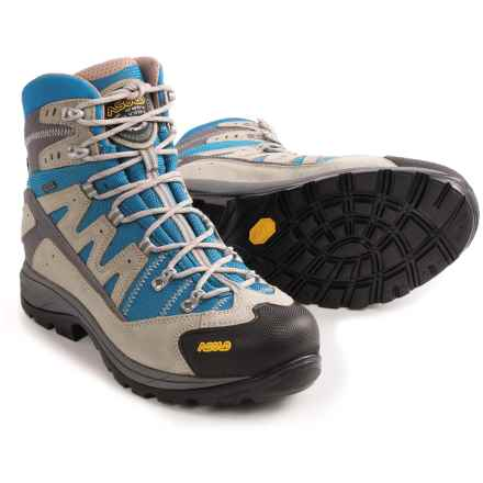 Asolo Neutron Gore-Tex® Hiking Boots - Waterproof, Suede (For Women) in Dust/Dark Aqua - Closeouts