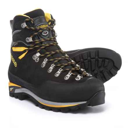 Asolo Piolet Gore-Tex® Mountaineering Boots - Waterproof, Leather (For Men) in Black/Dark Silver - Closeouts