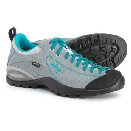 Asolo Shiver GV Gore-Tex® Hiking Shoes - Waterproof (For Women) in Cloudy Grey/Blue Peacock - Closeouts