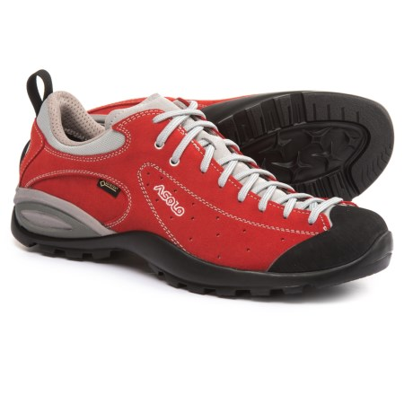 Asolo Shiver GV Gore-Tex® Hiking Shoes - Waterproof, Suede (For Men) in Fire Red