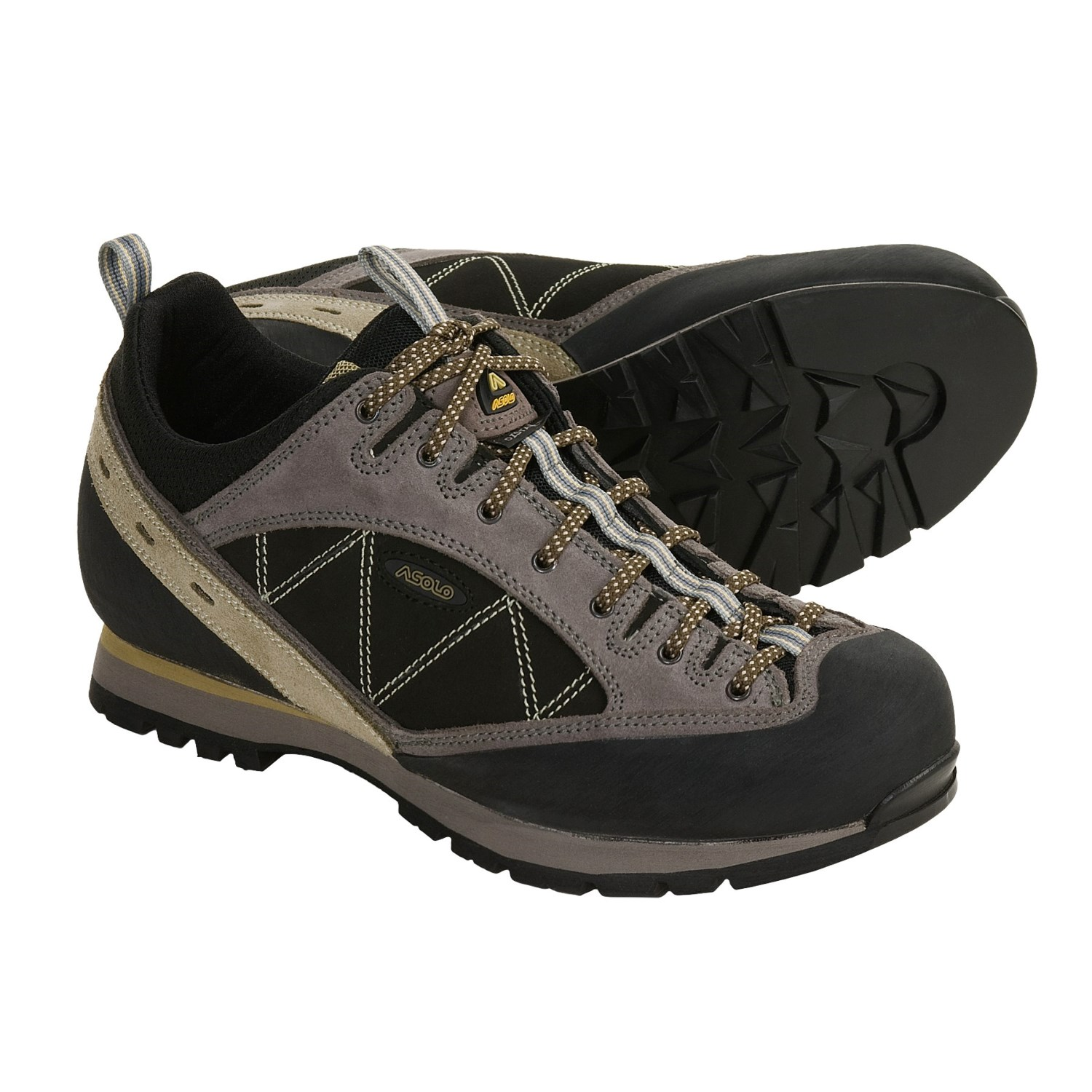 Asolo Shoes - Distance Trail (For Men) in Mustard/Cendre