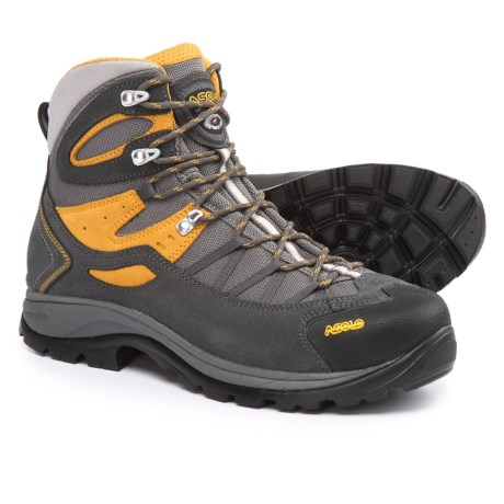 Asolo Swing Hiking Boots (For Men) in Shark/Mineral Yellow