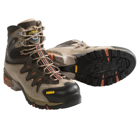 Asolo Synchro Gore-Tex® Hiking Boots - Waterproof (For Men) in Graphite/Gunmetal/Yellow