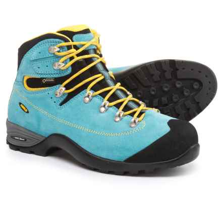 Asolo Tacoma GV Gore-Tex® Hiking Boots - Waterproof (For Women) in Azure/Mimosa - Closeouts