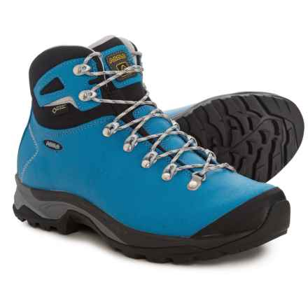 Asolo Thyrus GV Gore-Tex® Hiking Boots - Waterproof (For Women) in Blue Sea/Black - Closeouts