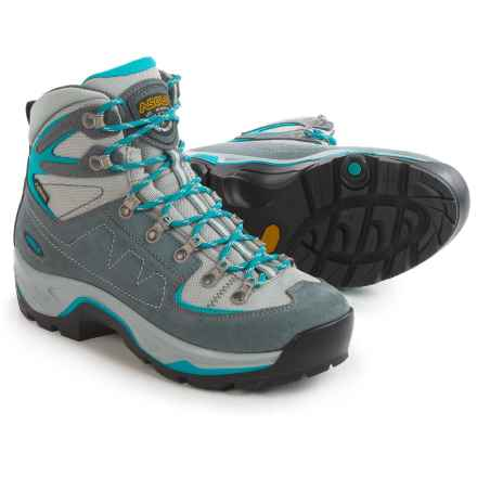 Asolo TPS Equalon GV Evo Gore-Tex® Hiking Boots - Waterproof (For Women) in Grey/Blue Peakcock - Closeouts