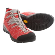 Asolo Trinity Hiking Boots - Waterproof , Nubuck (For Women) in Fire Red/Grey - Closeouts
