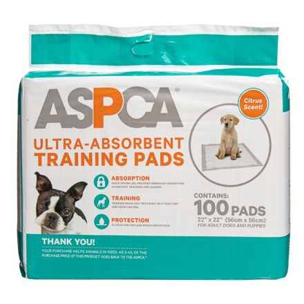0fb60eaadd6a9 ASPCA Citrus Scented Puppy Training Pads - 100-Pack in Citrus - Closeouts