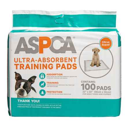 ASPCA Citrus Scented Puppy Training Pads - 100-Pack in Citrus - Closeouts