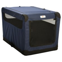 ASPCA Portable Soft Pet Crate - Large in Navy - Closeouts
