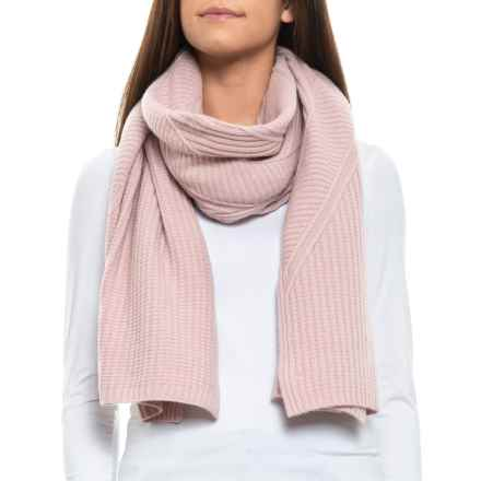 daadd3328a187 Aspen Asymmetrical Cable Travel Scarf - Merino Wool (For Women) in Rose  Dust -