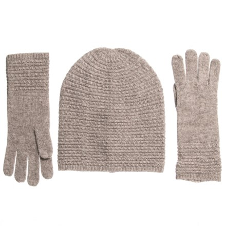 14e07fbd33f Aspen Baby Cable Hat   Glove Set - Merino Wool in Stone - Closeouts