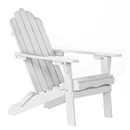 Aspen Brands Folding Wood Adirondack Chair in Gray - Closeouts